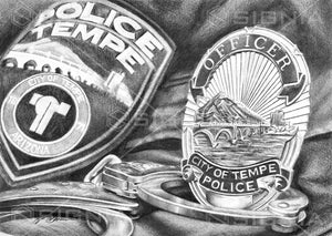 Tempe Police Department custom artwork by Signia Artwork
