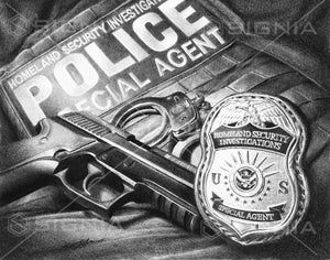 Homeland Security Investigations custom artwork by Signia Artwork