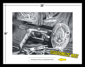 Phoenix Police Department framed print by Lucks Art 911