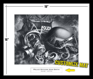 Custom public safety artwork by Lucks Art 911