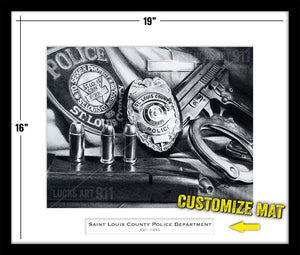 Saint Louis County Police Department custom artwork by Lucks Art 911
