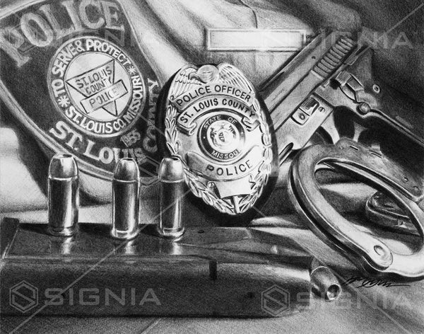 Saint Louis County Police Department custom artwork by Signia Artwork