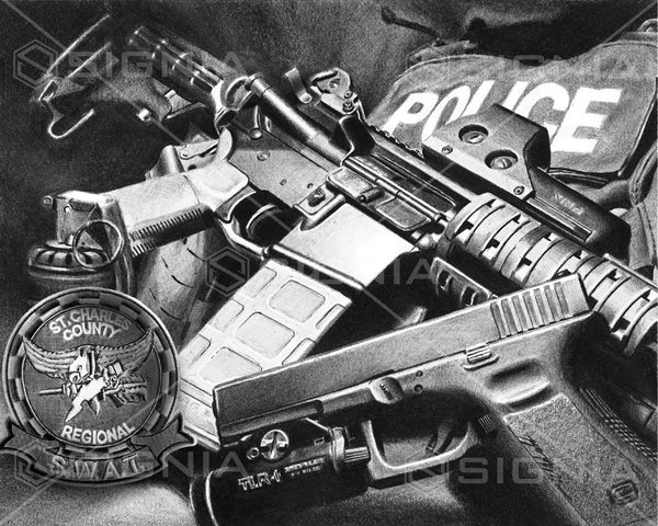 Saint Charles County Regional SWAT custom artwork by Signia Artwork
