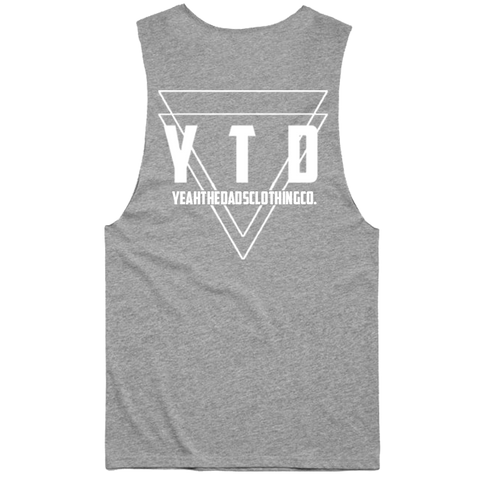 BERMUDA TRIANGLE MUSCLE TEE - GREY