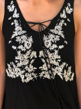 Black & White Embroidered Dress