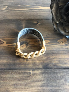 Gold Chain and Snakeskin Bracelet