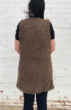 Mocha Faux Fur Long Vest