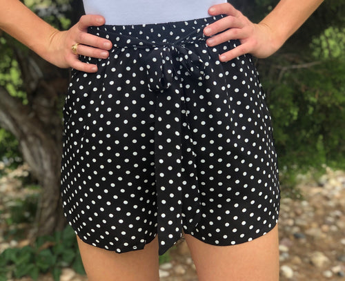 Black & White Polka Dot Shorts