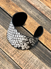 Black and White Snakeskin Bracelet