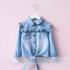 Girls denim top