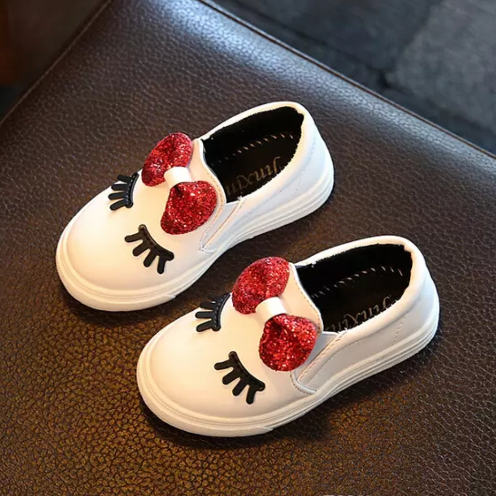 Girls White Fashion Shoe
