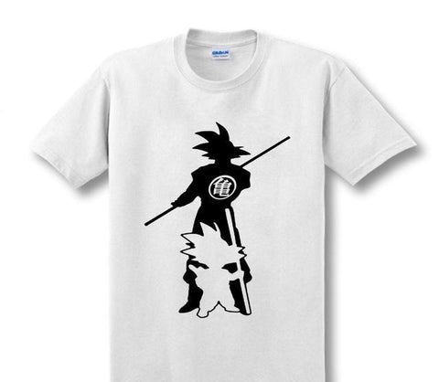 Kid and Grown Up Son Goku Cotton shirt - Geo Dapper
