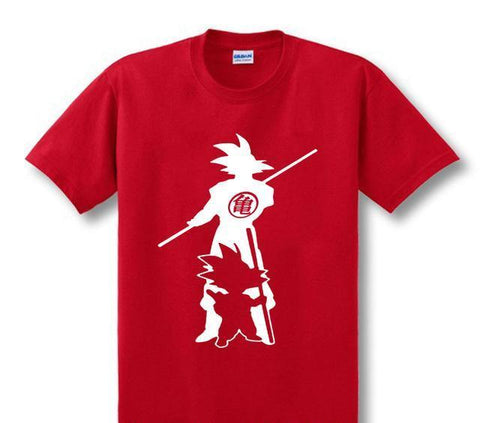 Kid and Grown Up Son Goku Cotton shirt - GeoDapper