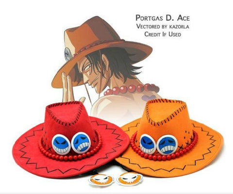 Ace Cowboy style Pirate Hat (from One Piece) (Cosplay) - GeoDapper