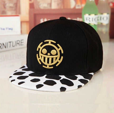 Trafalgar Law Black and White Baseball Cap (from One Piece)