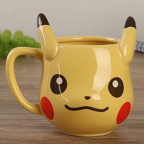 Pikachu and Eevee ceramic cups for tea or coffee - Geo Dapper