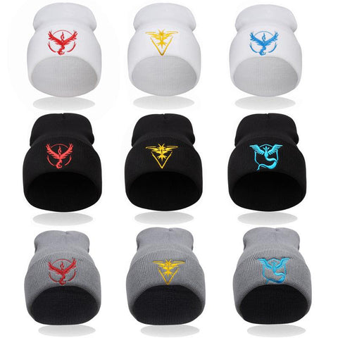 Pokemon Go Embroidery Knitted Wool Beanies with the Logo of your Favorite Team