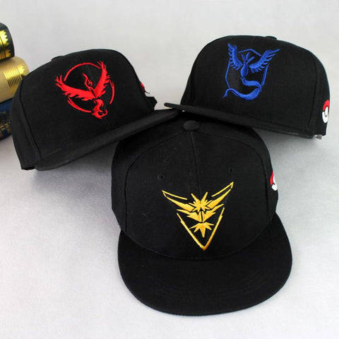 Pokemon Go Adjustable Black Baseball Hat