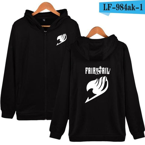 Fairy Tail Streetwear hooded zipper sweater - GeoDapper