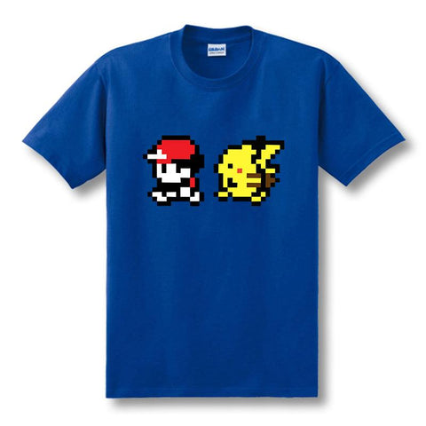 Red and Pikachu best friends walking shirt - GeoDapper