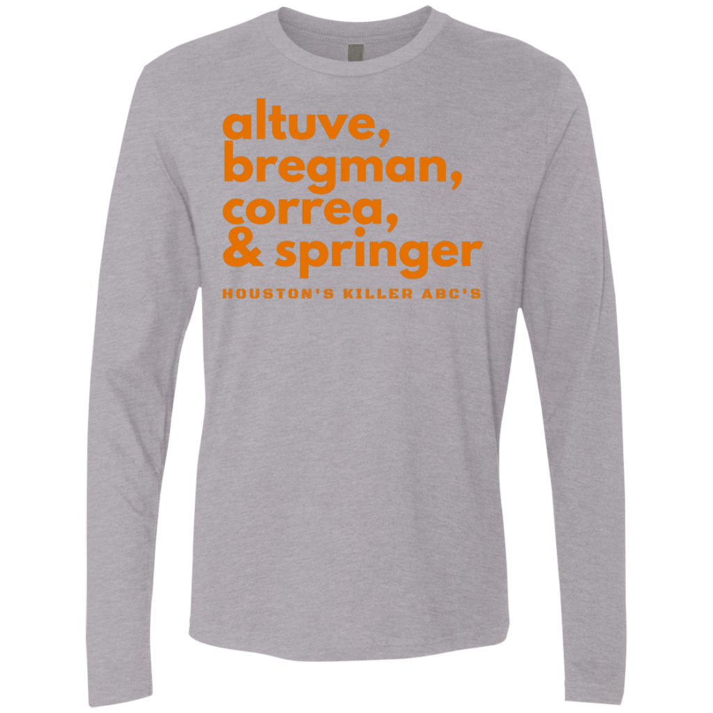 Houston's Killer ABC's Men's Premium Long Sleeve