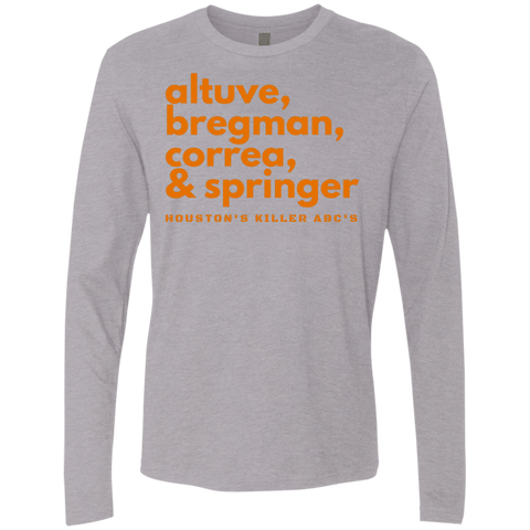 Image of Houston's Killer ABC's Men's Premium Long Sleeve