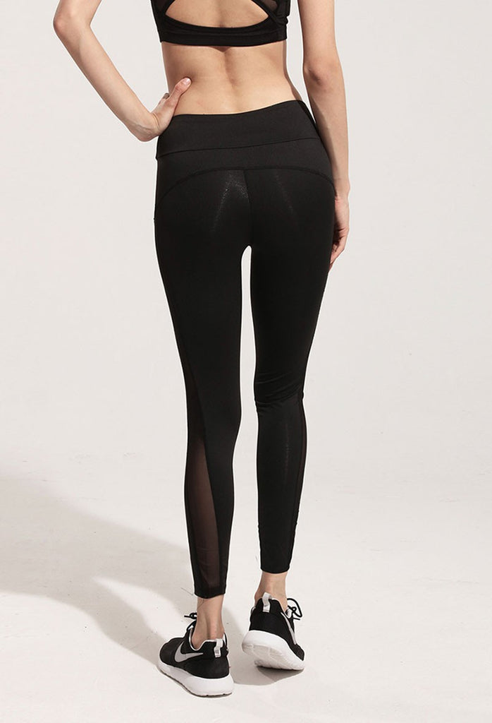 Spliced Mesh Leggings