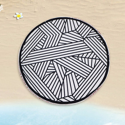 Image of Geometric Beach Mat