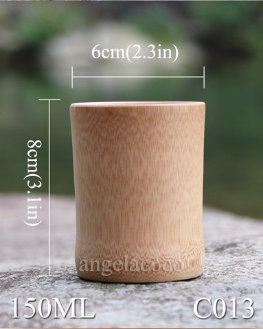 Image of Zen Wine & Tea Tumblers - Natural Bamboo