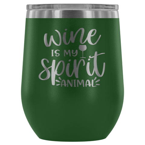 Image of Wine is my Spirit Animal 12oz Stemless Wine Tumbler