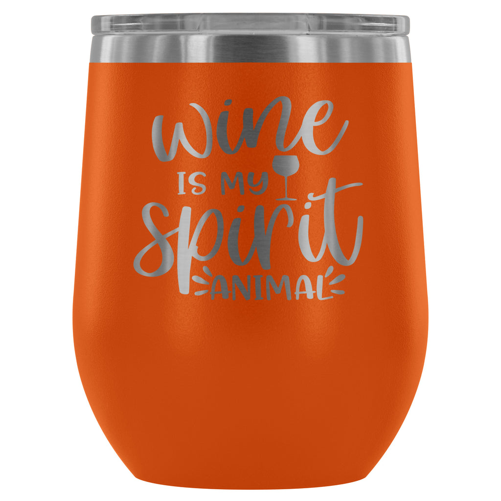 Wine is my Spirit Animal 12oz Stemless Wine Tumbler