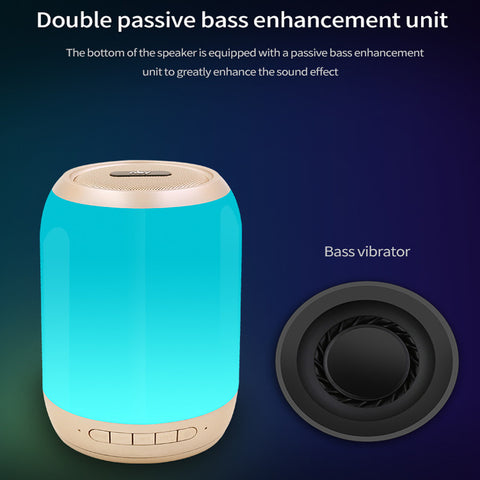 Image of Mini Bluetooth Speaker LED Outdoor Wireless Stereo Speaker Built-in Microphone Handsfree TF Card AUX MP3 Music Play FM Radio For iPhone Samsung Bluetooth Driver Computer iPad Tablet Laptop