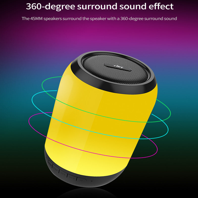 Mini Bluetooth Speaker LED Outdoor Wireless Stereo Speaker Built-in Microphone Handsfree TF Card AUX MP3 Music Play FM Radio For iPhone Samsung Bluetooth Driver Computer iPad Tablet Laptop
