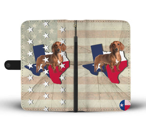 Cute Dachshund Dog Print Wallet Case-Free Shipping-TX State - The Horse Barn