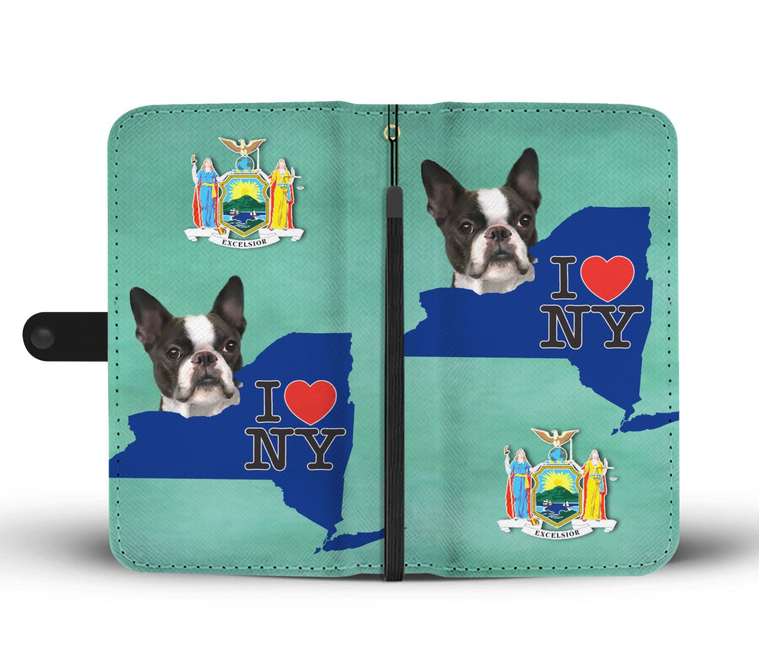 Boston Terrier Dog Print Wallet Case-Free Shipping-NY State - The Horse Barn