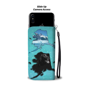 Black Labrador Retriever Dog Print Wallet Case-Free Shipping-AK State - The Horse Barn