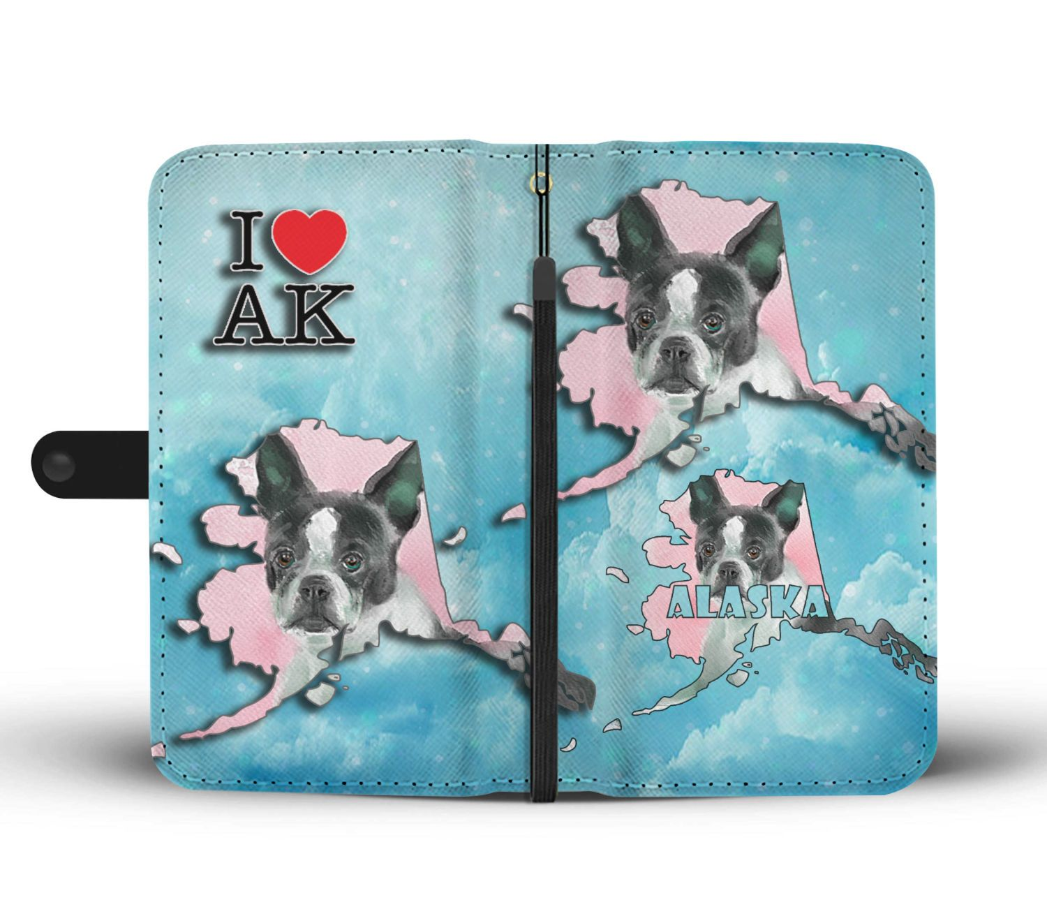 Boston Terrier Dog Art Print Wallet Case-Free Shipping-AK State - The Horse Barn
