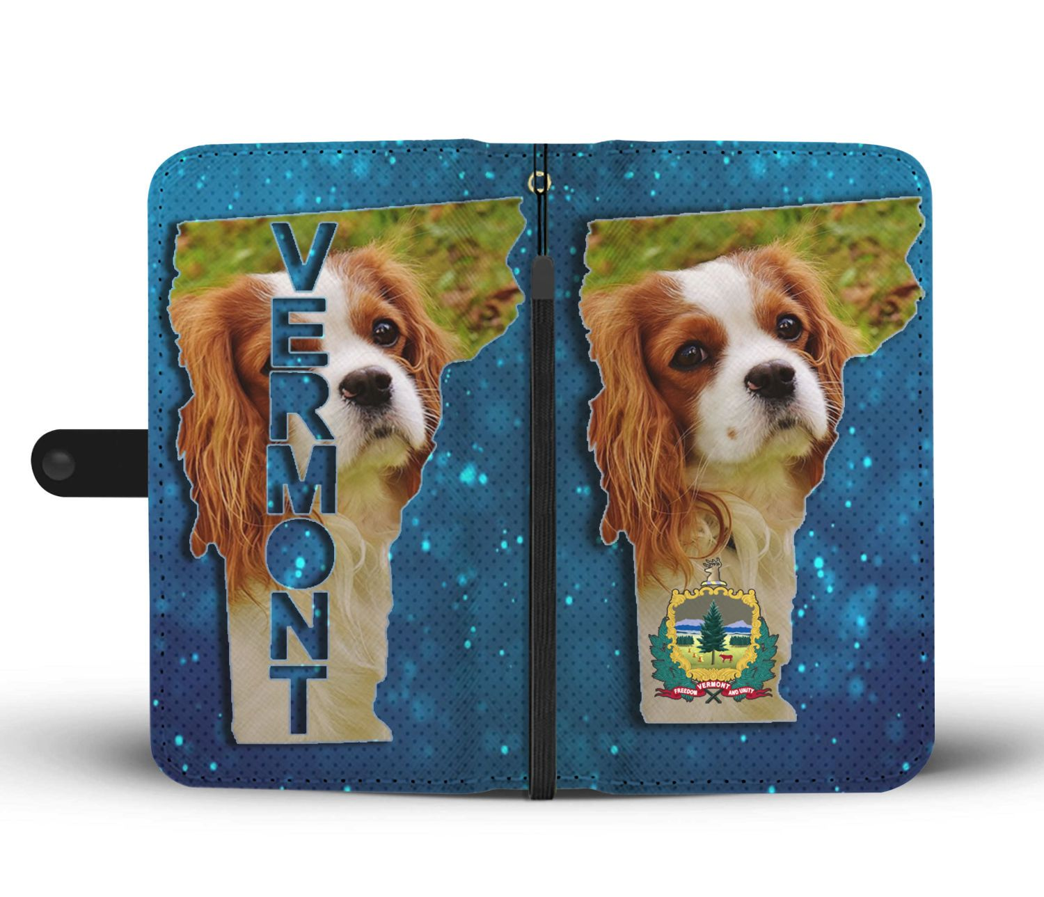 Cavalier King Charles Spaniel Dog Print Wallet Case-Free Shipping-VT State - The Horse Barn