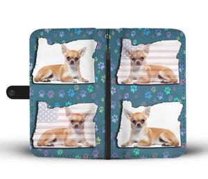 Cute Chihuahua Dog Print Wallet Case-Free Shipping-OR State - The Horse Barn