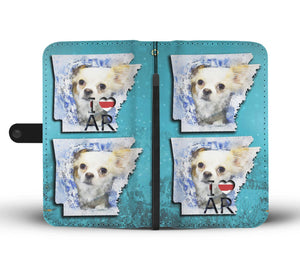 Cute Chihuahua Dog Art Print Wallet Case-Free Shipping-AR State - The Horse Barn