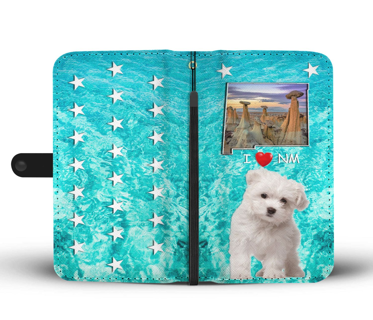 Cute Maltese Dog Print Wallet Case-Free Shipping-NM State - The Horse Barn