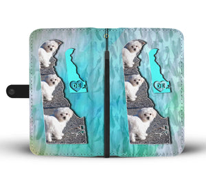Cute Maltese Dog Print Wallet Case-Free Shipping-DE State - The Horse Barn