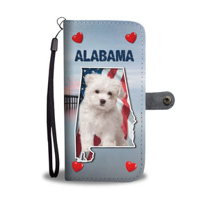 Cute Maltese Dog Print Wallet Case-Free Shipping-AL State - The Horse Barn
