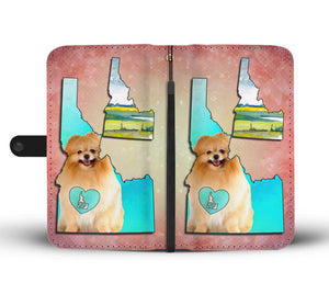 Cute Pomeranian Dog Print Wallet Case-Free Shipping-ID State - The Horse Barn