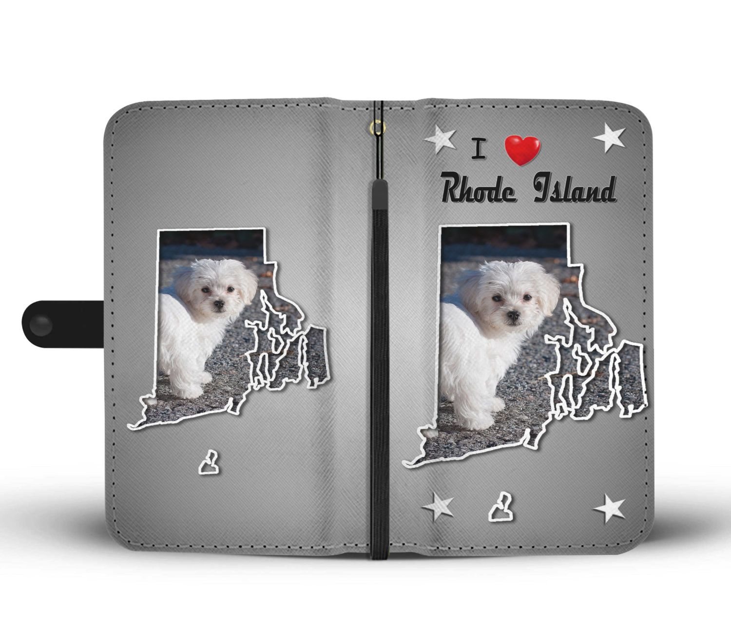 Cute Maltese Dog Print Wallet Case-Free Shipping-RI State - The Horse Barn