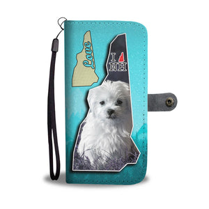 Cute Maltese Dog Print Wallet Case-Free Shipping-NH State - The Horse Barn