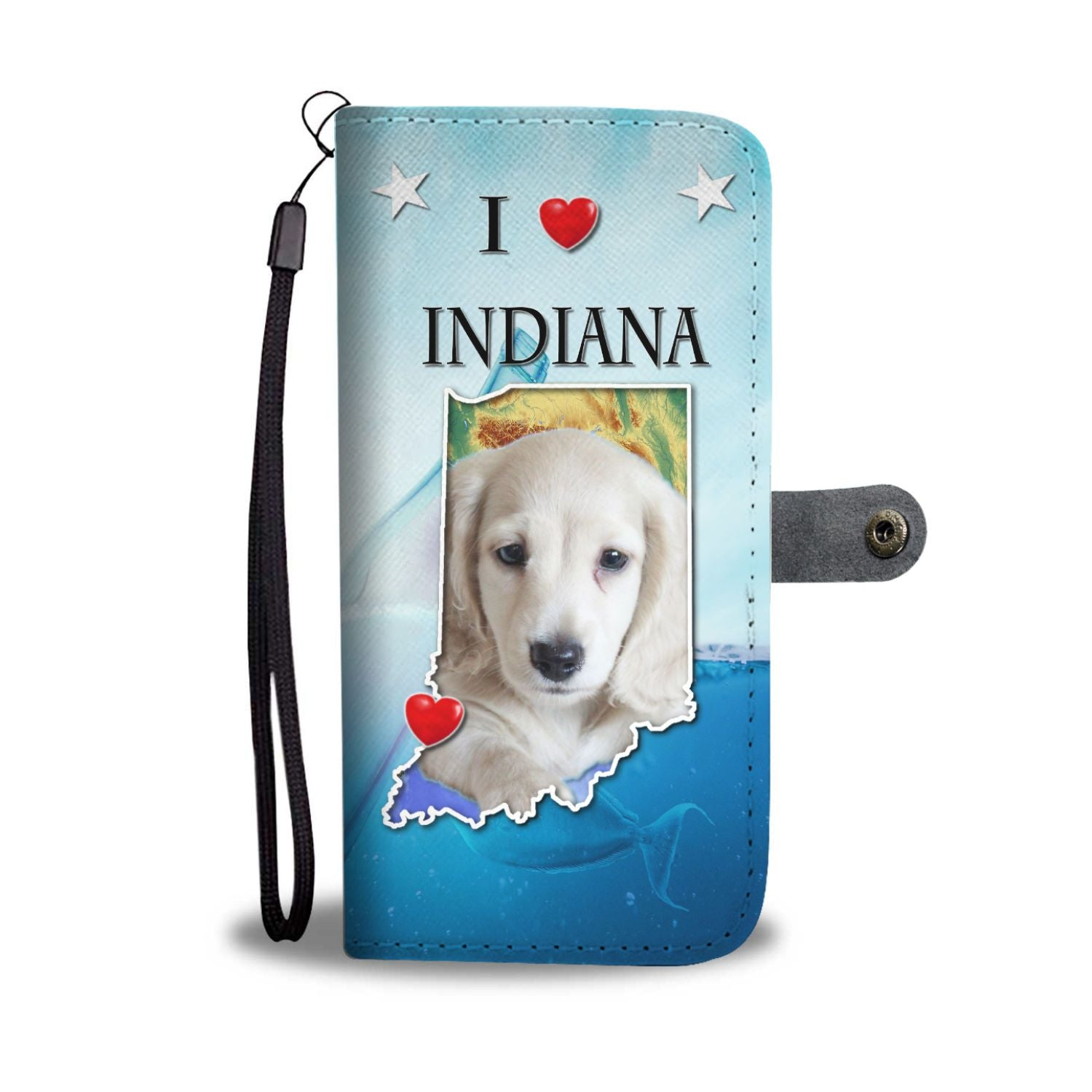 Cute Dachsund Dog Print Wallet Case-Free Shipping-IN State - The Horse Barn