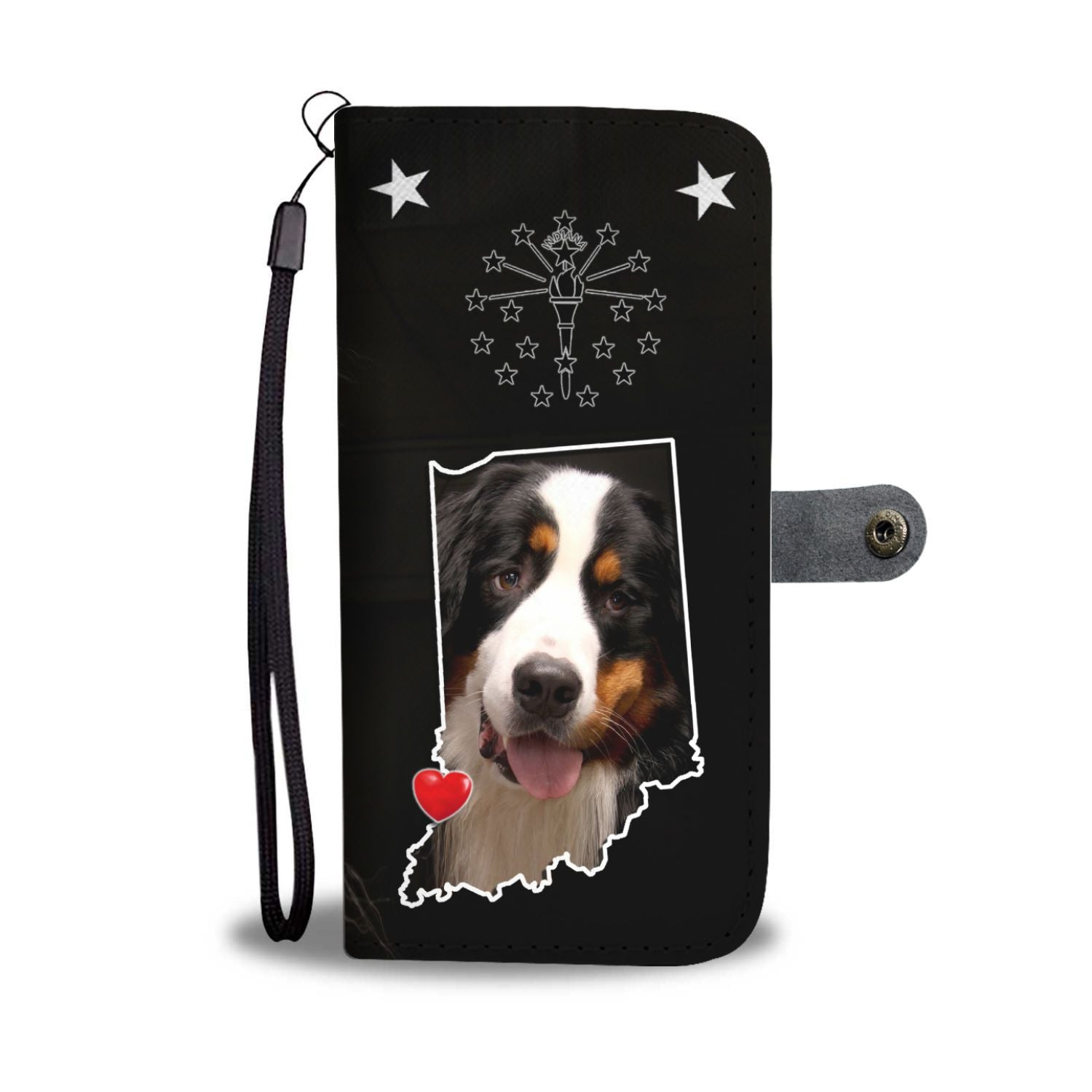 Cute Bernese Mountain Dog Print Wallet Case-Free Shipping-IN State - The Horse Barn