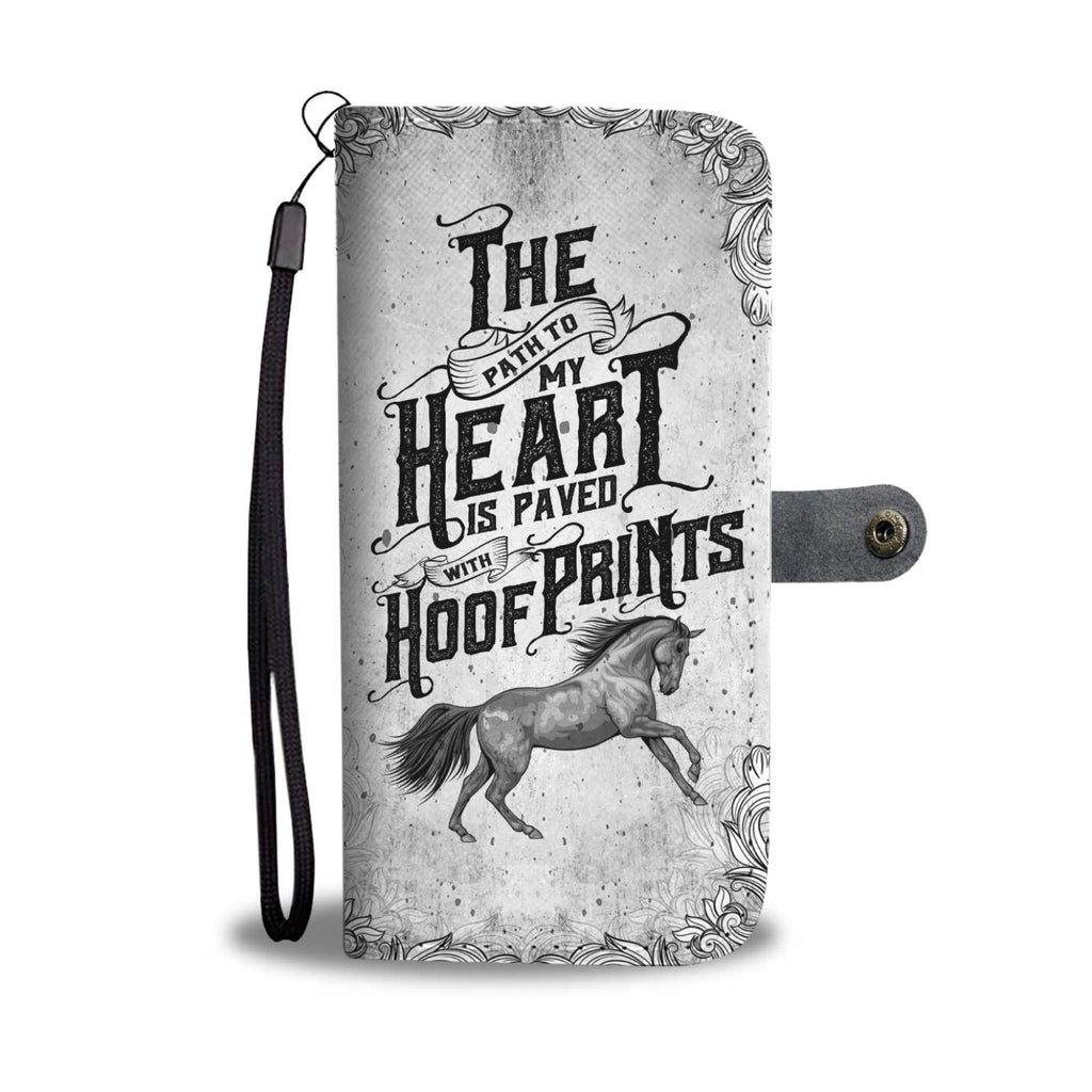 A Horses Hoof Prints Wallet Phone Case - The Horse Barn