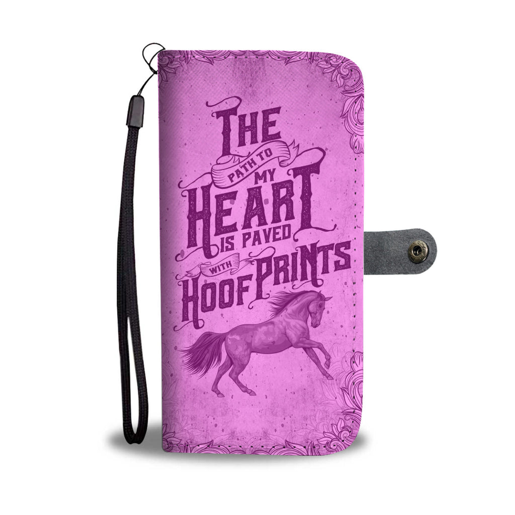 A Horses Wallet Phone Case Pink